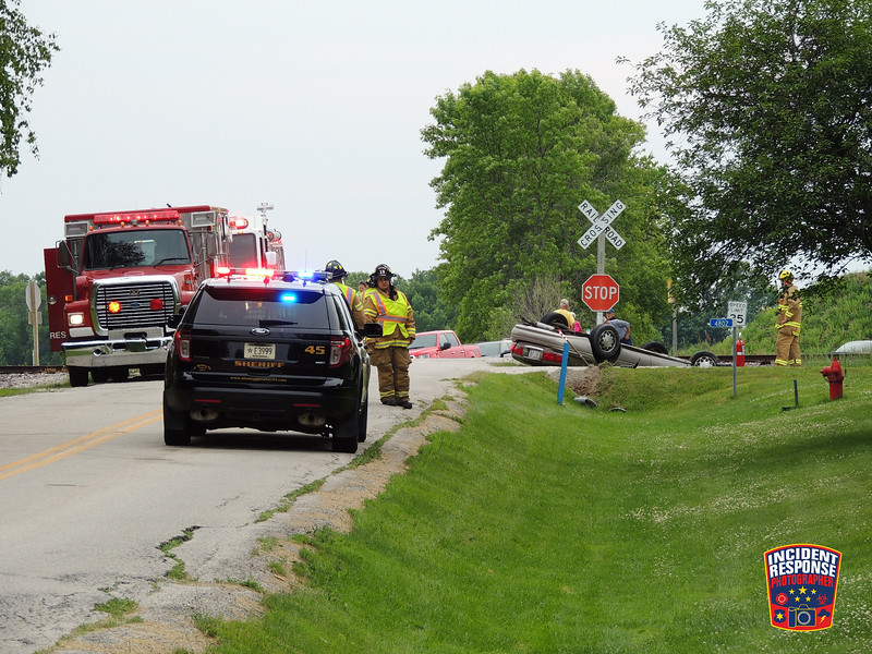 Single vehicle rollover crash in the 4800 block of Najacht Road in Sheboygan, Wisconsin on Tuesday, June 14, 2016. Photo by Asher Heimermann/Incident Response.