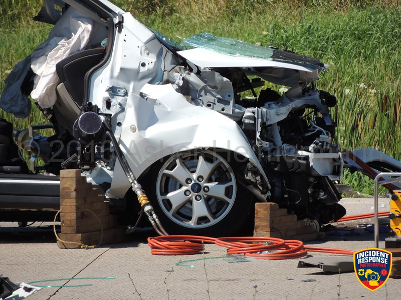 75-year-old Jane Reklaitis was killed in a two-vehicle crash on State Highway 23 at County Road TT in the Town of Sheboygan Falls, Wisconsin on Friday, July 22, 2016. Photo by Asher Heimermann/Incident Response.