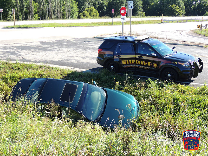 Single vehicle accident at Highway 23 & County Road TT in the Town of Sheboygan Falls, Wisconsin on Monday, August 22, 2016. Photo by Asher Heimermann/Incident Response.