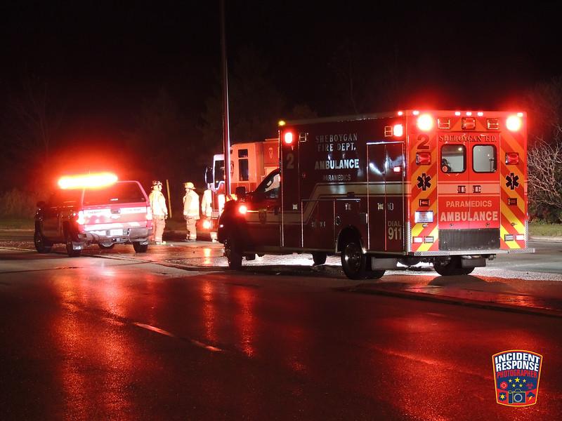 Single vehicle rollover crash in the 2700 block of Washington Avenue in Sheboygan, Wisconsin on Thursday, December 1, 2016. Photo by Asher Heimermann/Incident Response.
