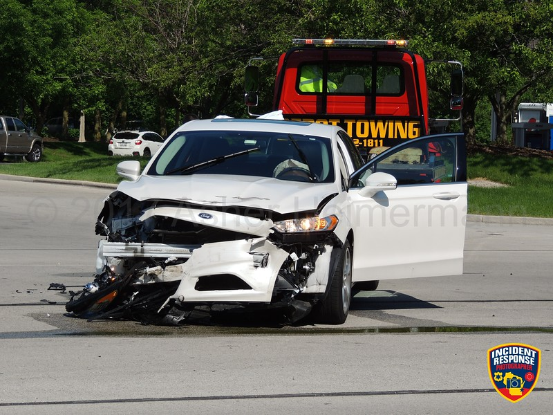 Two-vehicle accident on Highland Drive at Commerce Lane in Kohler, Wisconsin on Friday, June 9, 2017. Photo by Asher Heimermann/Incident Response.