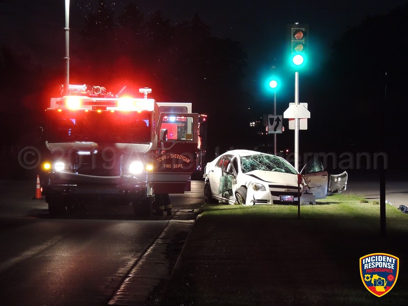 A man was arrested on suspicion of OWI causing injury after a rollover crash near County Road Y and Superor Avenue in the Town of Sheboygan on Thursday, June 20, 2019. The driver fled on foot after the crash but was apprehended by deputies. Photo by Asher Heimermann/Incident Response.