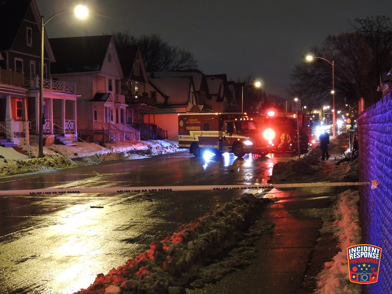 Milwaukee Police are searching for the driver who fled the scene after hitting and killing a man on North 35th Street near West Meinecke Street on Sunday, January 26, 2020. Photo by Asher Heimermann/Incident Response.