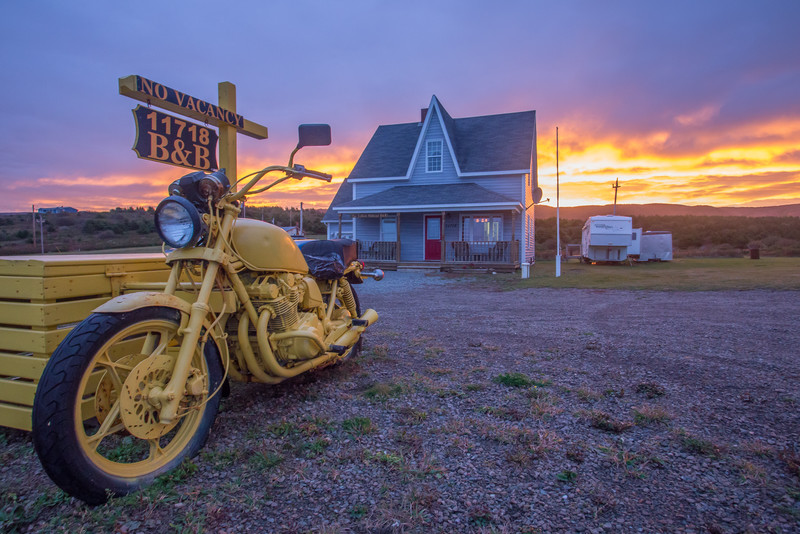 The Yellow Sidecar B&B, Cape Breton, Nova Scotia