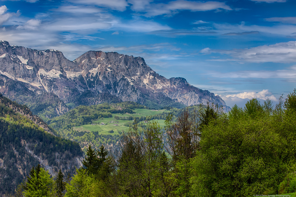 Magestic view of Alps outside Berchtesgaden