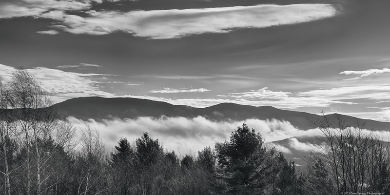 Stowe valley after the fog burned off up high but was lingering in the valley.  The fog was mostly from sublimation I think.