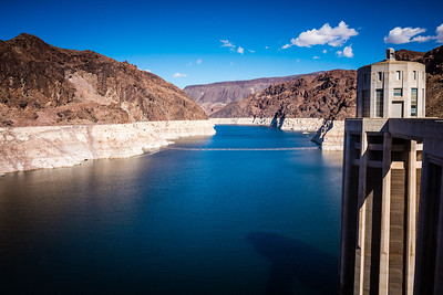 Lake Mead, from the Arizona side of Hoover Dam.