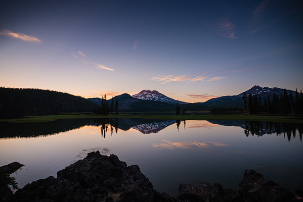 Sunset at Sparks Lake, OR near Bend, OR.