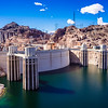 Hoover Dam. From Arizona, looking back at the Nevada side of the dam.