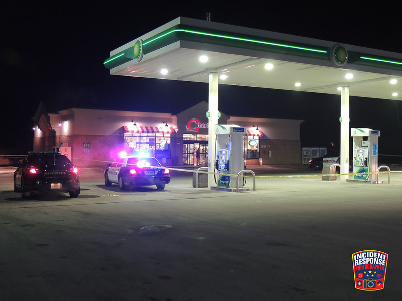 Sheboygan Police and the Sheboygan County Sheriff's Office responded to an armed robbery at the Q-Mart gas station at 4650 South 12th Street in Sheboygan, Wisconsin on Friday, December 5, 2014. Photo by Asher Heimermann/Incident Response.