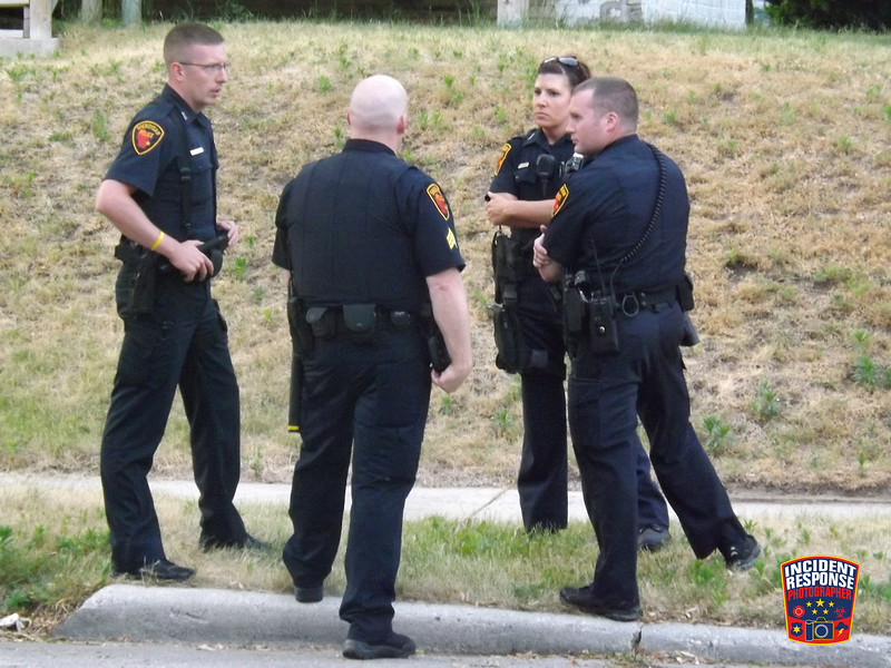 24-year-old Brandon Davis was shot and killed near South 9th Street & High Avenue in Sheboygan, Wisconsin on Saturday, June 16, 2012. Photo by Asher Heimermann/Incident Response.