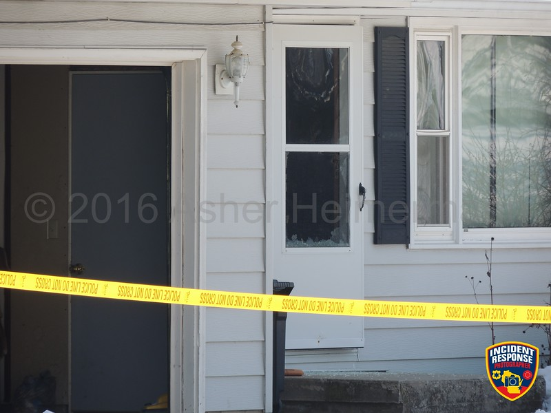 Manitowoc Police and Wisconsin Department of Justice investigated a homicide shooting in the 2200 block of South 9th Street in Manitowoc, Wisconsin on Friday, February 5, 2016. Photo by Asher Heimermann/Incident Response.