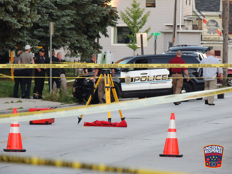 Police investigate a fatal officer-involved shooting at Union Tap, 1401 Union Avenue in Sheboygan, Wisconsin on Monday, July 18, 2016. Photo by Asher Heimermann/Incident Response.