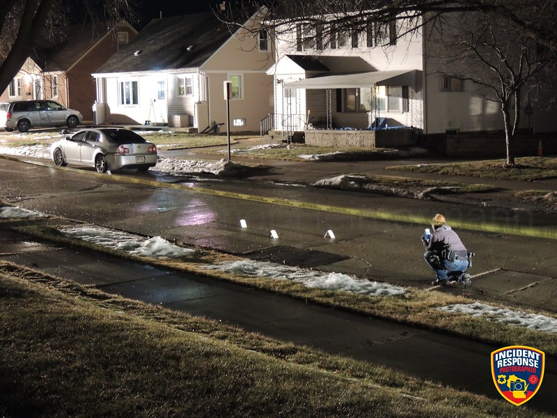 Sheboygan Police investigate a shooting in the 1200 block of South 20th Street in Sheboygan, Wisconsin on Friday, January 26, 2018. Photo by Asher Heimermann/Incident Response.