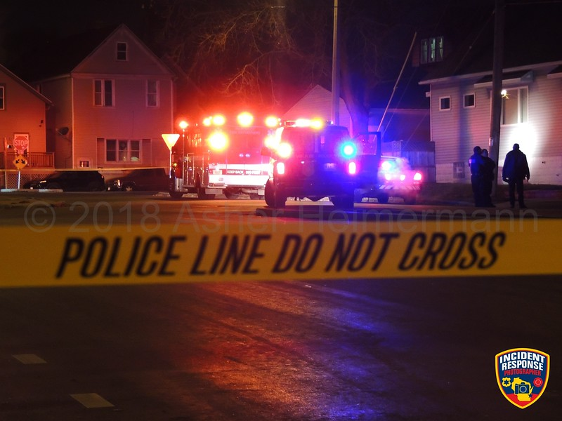 39-year-old Robert Graun was shot and killed near South 1st Street & West Mitchell Street in Milwaukee, Wisconsin on Monday, December 31, 2018. Photo by Asher Heimermann/Incident Response.