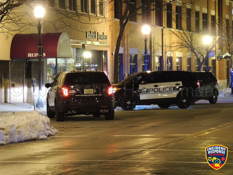 A single gunshot was discharged during an armed robbery attempt inside an apartment building in the 900 block of North 8th Street in Sheboygan, Wisconsin on Thursday, April 5, 2018. Photo by Asher Heimermann/Incident Response.