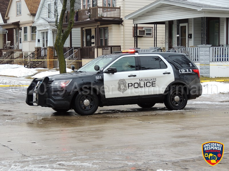 Milwaukee Police Officer Matthew Rittner was shot and killed while serving a search warrant near South 12th Street and West Manitoba Street on Wednesday, February 6, 2019. Photo by Asher Heimermann/Incident Response.