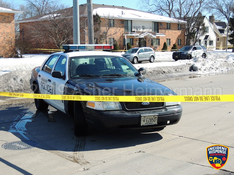 Sierra Robinson was shot and killed near North 91st Street & Mill Road in Milwaukee, Wisconsin on Monday, March 11, 2019. Her two-year-old daughter, Noelani, was taken and was later found murdered in Minnesota. Photo by Asher Heimermann/Incident Response.