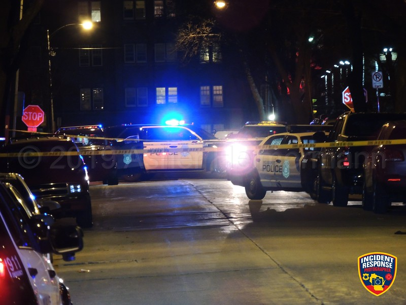 A 32-year-old man was shot and injured near North 32nd Street & West Clybourn Street in Milwaukee, Wisconsin on Friday, March 22, 2019. Photo by Asher Heimermann/Incident Response.