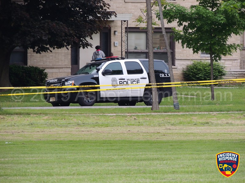 Milwaukee Police investigating an officer-involved shooting on North 84th Street at West Congress Street in Milwaukee, Wisconsin on Saturday, June 8, 2019. An armed suspect was shot and injured. Photo by Asher Heimermann/Incident Response.