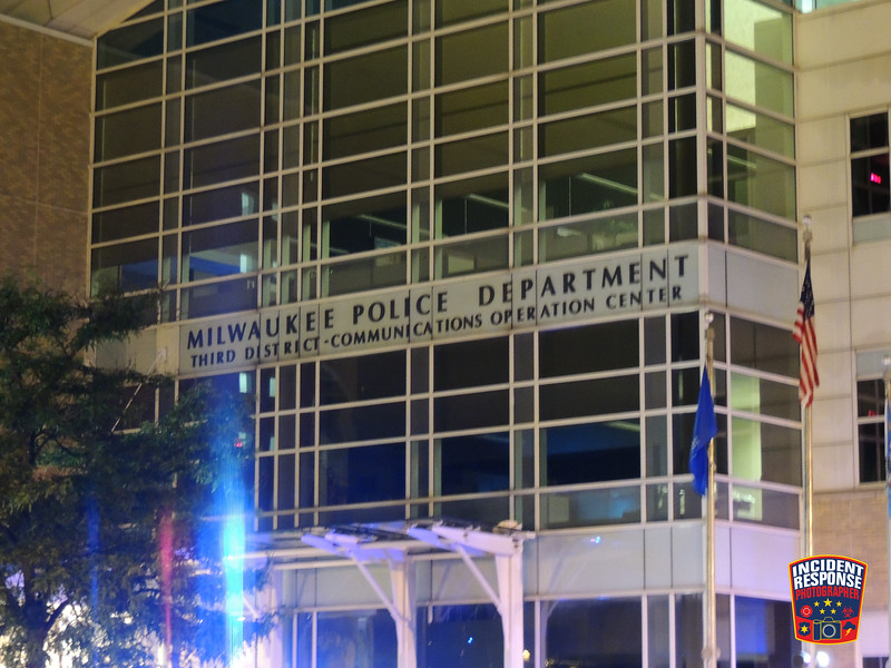 A man was reportedly shot multiple times in the head and was taken to Milwaukee Police District 3 where he died on Wednesday, July 29, 2020. Photo by Asher Heimermann/Incident Response.