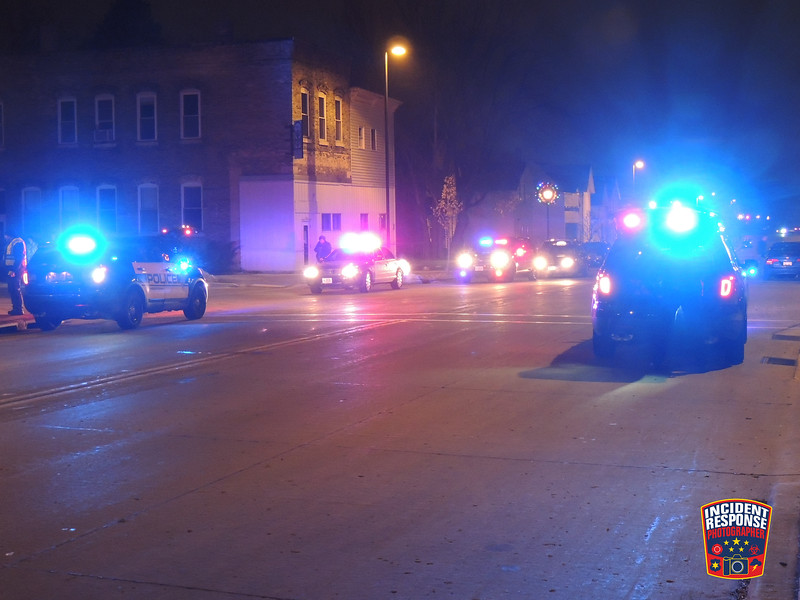Sheboygan Police responded to a stabbing at Shevegas Night Club, located at 1133 Michigan Avenue in Sheboygan, Wisconsin on Friday, December 12, 2014. Photo by Asher Heimermann/Incident Response.