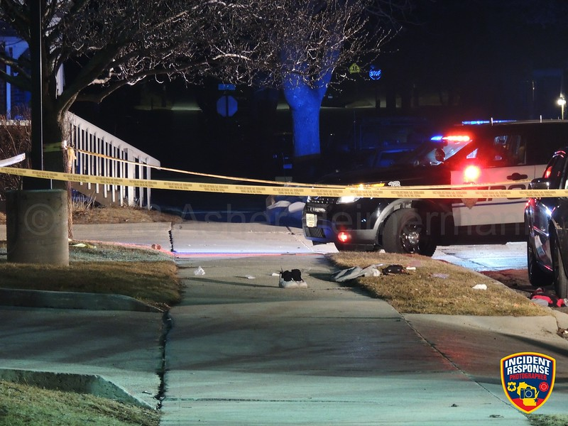 Two men were stabbed during a disturbance in 800 block of Clara Avenue in Sheboygan, Wisconsin on Thursday, March 29, 2018. Photo by Asher Heimermann/Incident Response.
