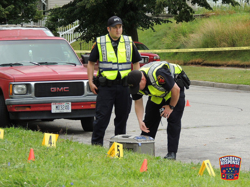 38-year-old Phillip Spell was stabbed to death over an alleged $40 debt in the 1200 block of St. Clair Avenue in Sheboygan, Wisconsin on Monday, July 11, 2016. Photo by Asher Heimermann/Incident Response.