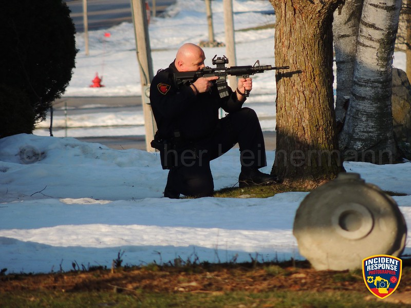 Law enforcement officers surrounded a home when a suicidal man with a firearm threatened to harm himself at 2822 Main Avenue in Sheboygan, Wisconsin on Friday, February 19, 2016. Photo by Asher Heimermann/Incident Response.