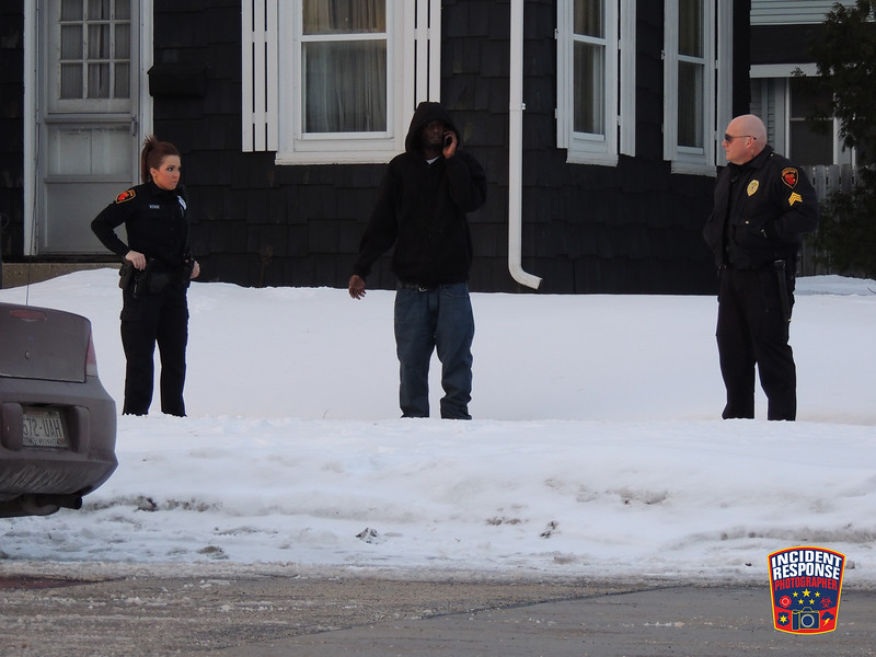 Sheboygan Police conducted a traffic stop at South 9th Street & Jefferson Avenue in Sheboygan, Wisconsin on Sunday, January 19, 2014. Photo by Asher Heimermann/Incident Response.