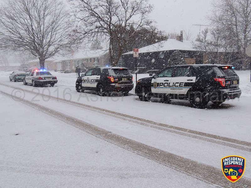 A traffic stop was conducted by the Sheboygan Police Department at North 27th Street & North Avenue on Monday, February 8, 2016. Photo by Asher Heimermann/Incident Response.