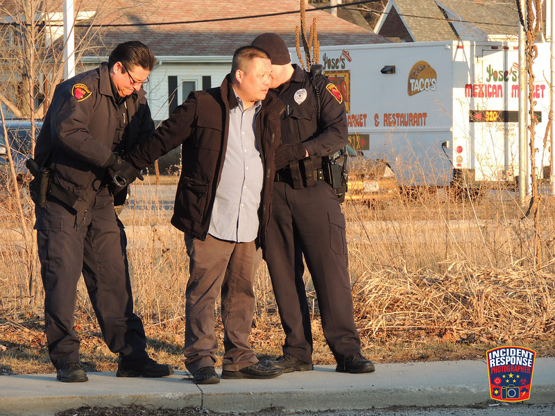 Sheboygan Police arrested a suspected impaired driver after a traffic stop at South 17th Street & Union Avenue in Sheboygan, Wisconsin on Saturday, April 5, 2014. Photo by Asher Heimermann/Incident Response.