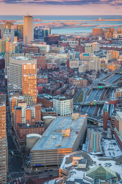 Bay Village tucked into the rest of downtown Boston