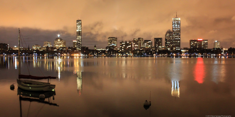 Boston's Back Bay (1x2 format, recommended to print only on canvas)