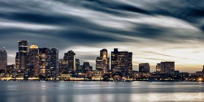 Cold Boston Sky (1x2 format)