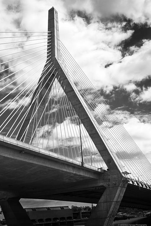 Zakim Bridge on a windy day