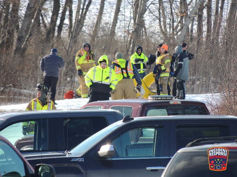 The body of missing college freshman Kaelin O'Neal was found in a small pond at Lakeland University on Wednesday, December 14, 2016. Photo by Asher Heimermann/Incident Response.