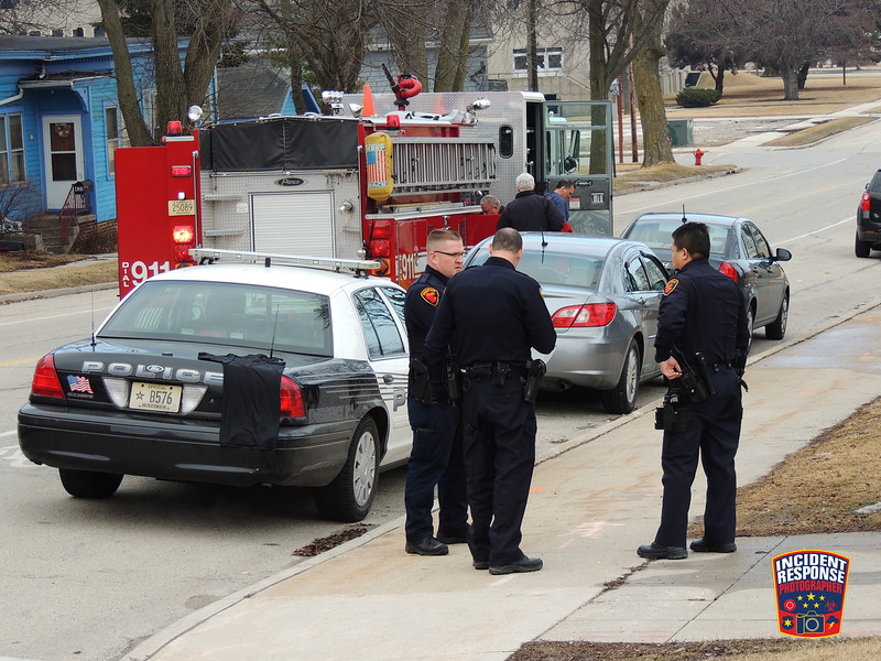 A man was rescued from the Sheboygan River on Pennsylvania Avenue in Sheboygan, Wisconsin on Friday, March 28, 2014. Photo by Asher Heimermann/Incident Response.