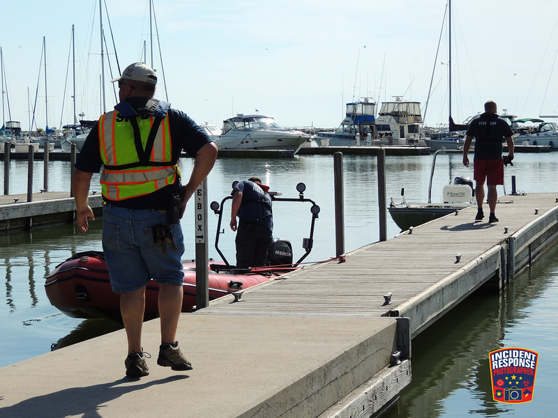 The bodies of Adam LaLuzerne and Kurt Ahonen were located in Lake Michigan by the Sheboygan County Dive Team during a recovery operation in Sheboygan, Wisconsin on Monday, July 18, 2016. Photo by Asher Heimermann/Incident Response.