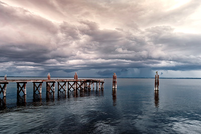 Approaching Storm over Lake Monroe, Sanford, FL