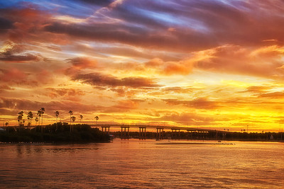 Sunset over Chicken Island and South Causeway, New Smyrna Beach, FL