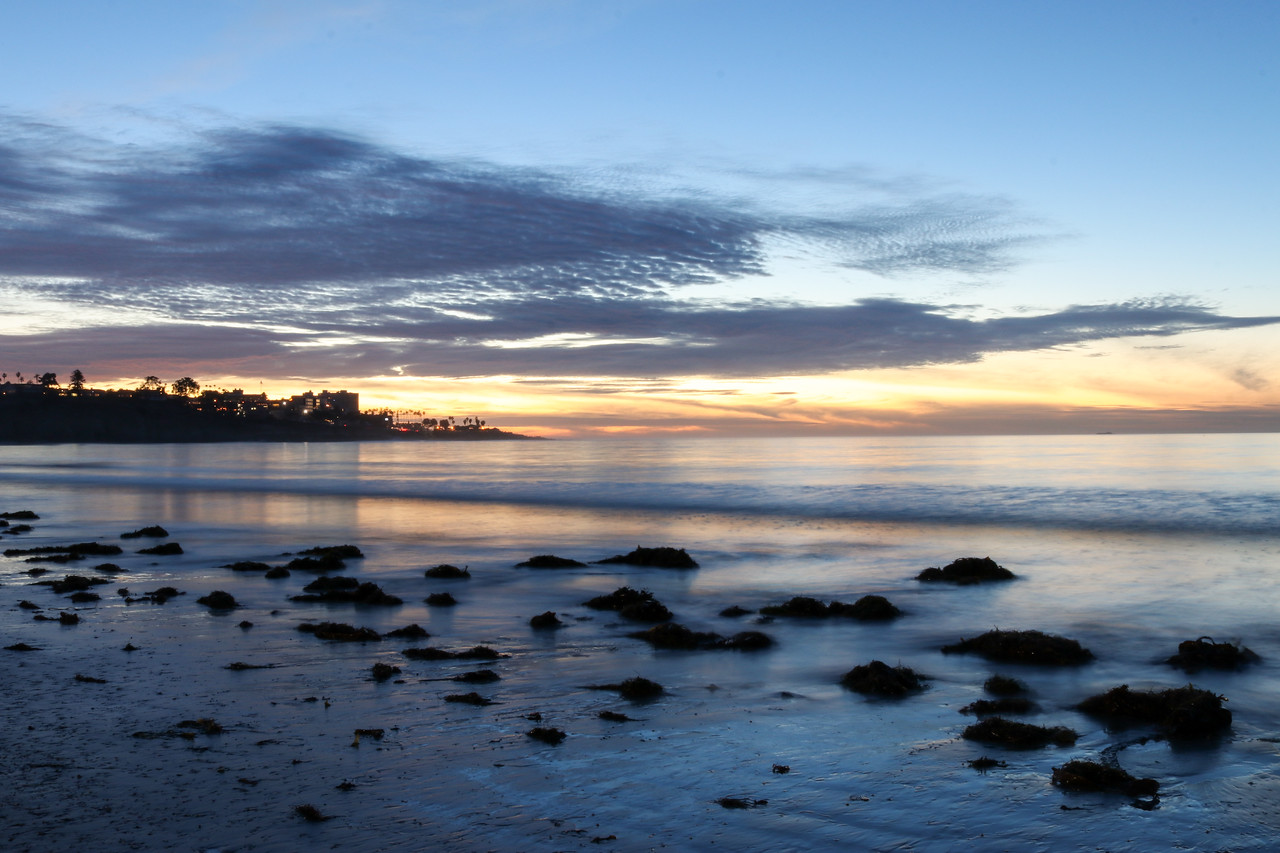 Winter sunset at La Jolla Shores.
