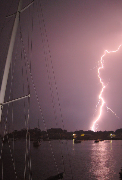 Lightning on the Severn River (c) 2010