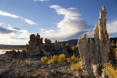 Morning sun lights South Tufa.