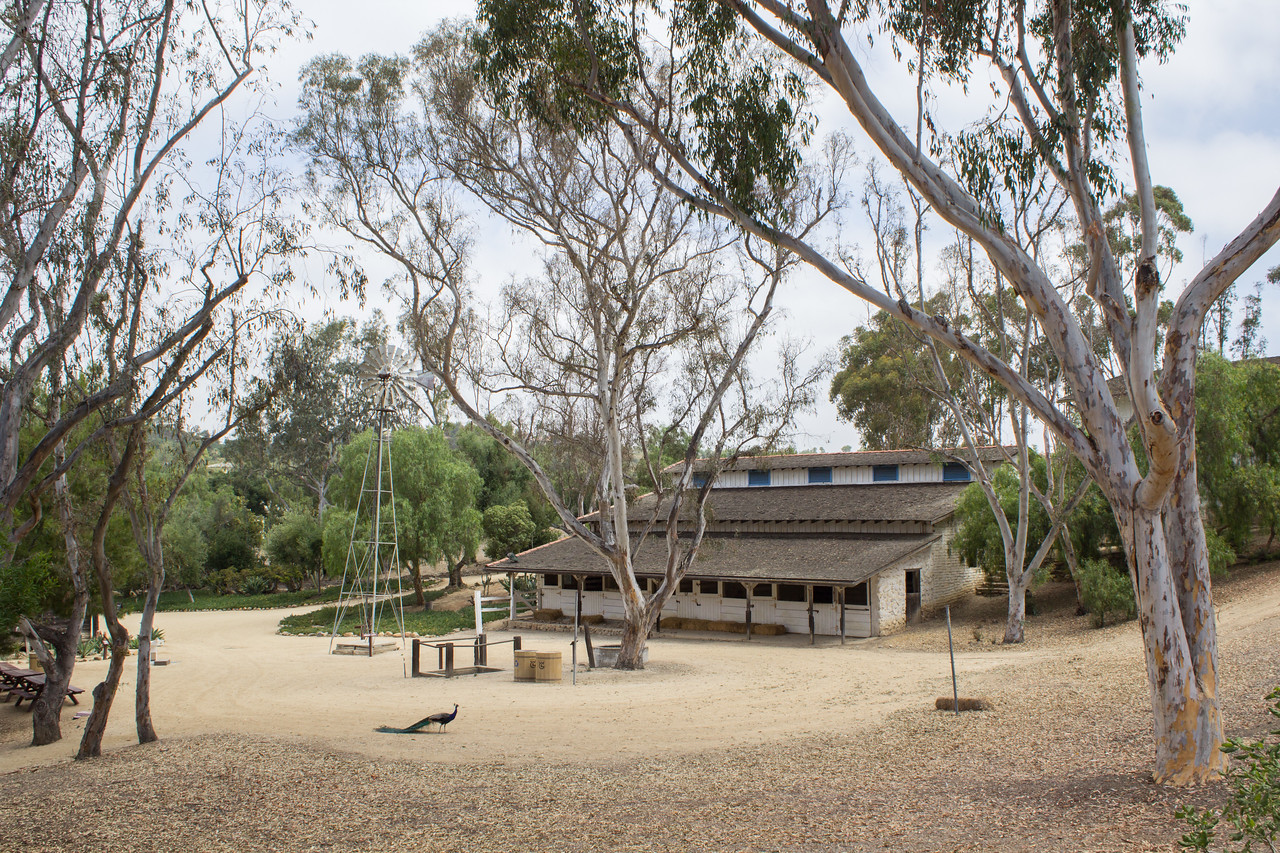 Stables at Leo Carrillo Ranch Historic Park.
