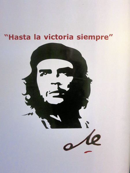 Che on a poster, Havana 2015, edited by Jose Figueroa