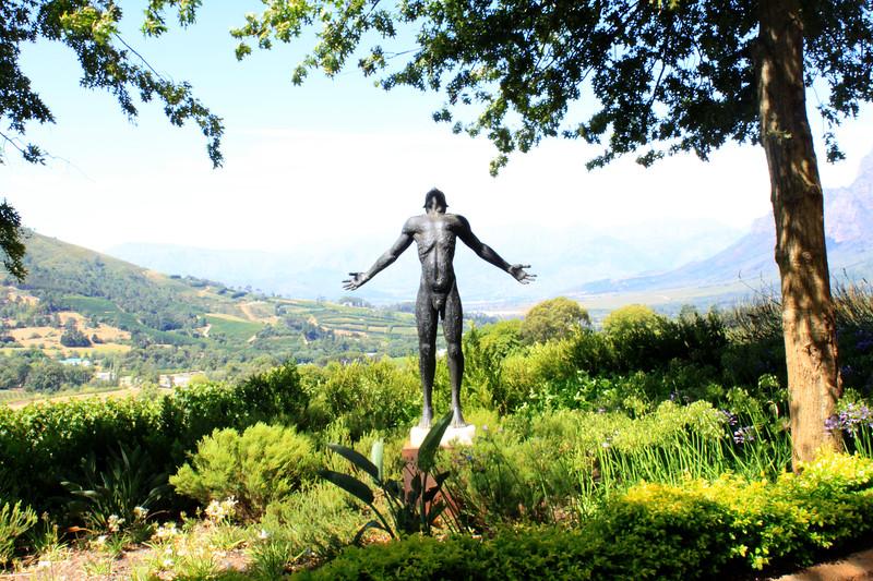 Male Sculpture, Constantia Valley outside Captown, S. A. (c) 2011