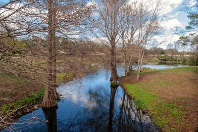Greenwood Urban Wetlands during winter months
