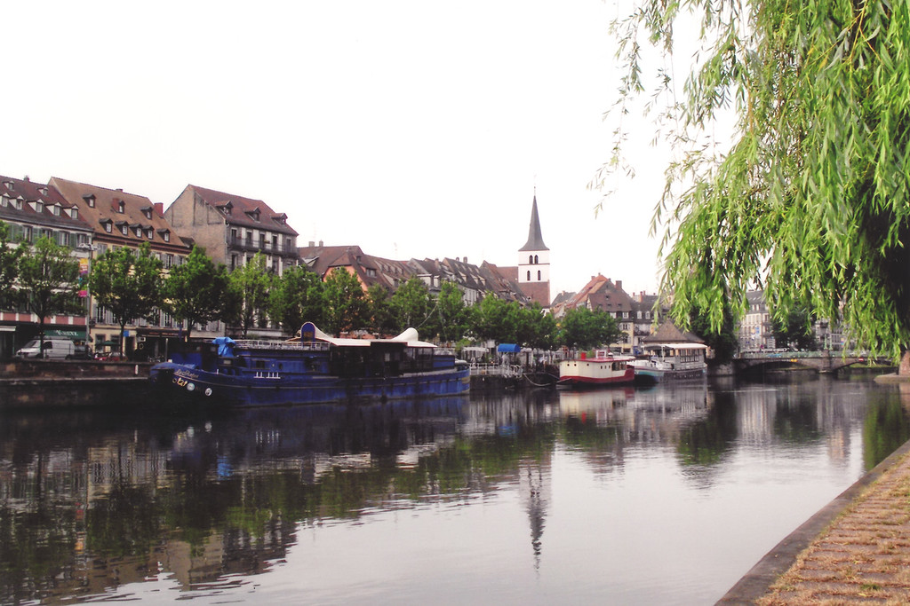 Strasbourg, France Canal and boats (c)2008