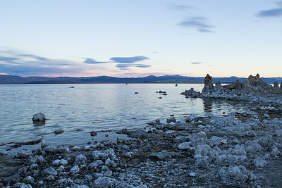 Sunset at Mono Lake Tufa State Natural Reserve.